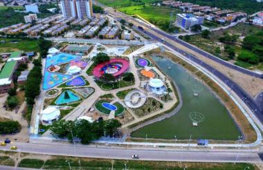 El Parque Temático del Agua, una obra moderna y que es sinónimo de progreso en Santa Marta.