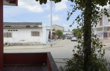 Sector del barrio Santo Domingo donde se registraron los hechos.