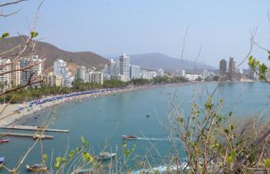 Vista panorámica de El Rodadero, en Santa Marta.