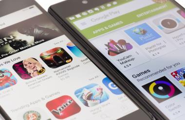 Dispositivos móviles con sistema iOS y Android.