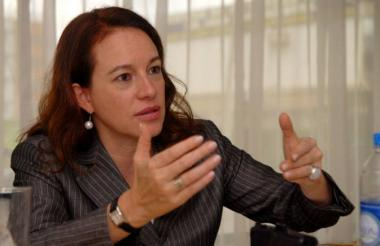 María Fernanda Espinosa, canciller de Ecuador.
