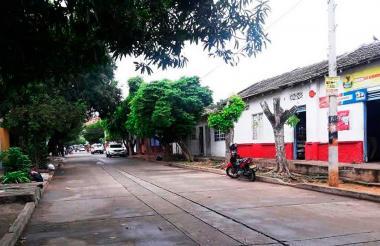 Una calle del barrio El Carmen, en Valledupar.