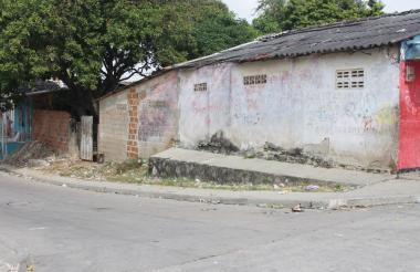 Sector del barrio La Sierrita que es la frontera invisible donde han ocurrido todas las muertes entre las pandillas.