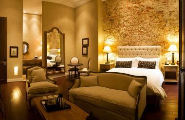 Imagen de una habitación del hotel.