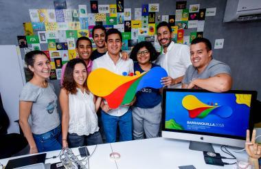 El talentoso equipo creador del logo de los Juegos Centroamericanos y de los principales slogans de la ciudad.