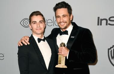 James Franco junto a su hermano en los premios Globo de Oro 2018.
