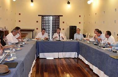 Reunión del presidente Santos con el Eln  en C/gena