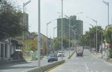 Vista general de la carrera 54 entre calles 53 y 48, en el Barrio Abajo.