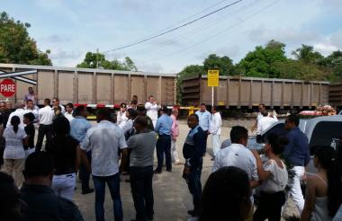 Habitantes de Aracataca piden que los liberen del tren del carbón en el perímetro urbano.