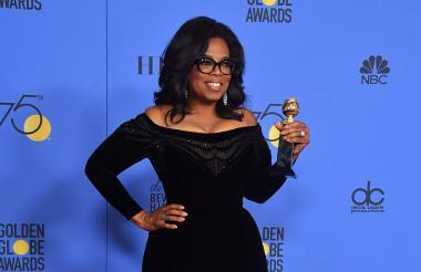 Oprah Winfrey durante la entrega de los Globos de Oro.