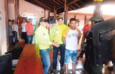 Momentos en los que fue capturado 'Guajirito' por la Sijín.