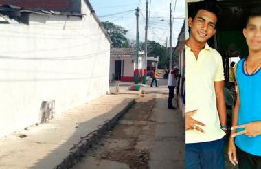 Este fue el lugar donde Milton Francisco Reyes Ortega (de camiseta amarilla) habría apuñalado a su amigo de 16 años.