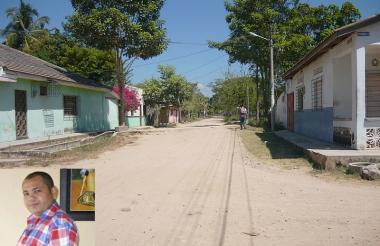 Una de las vías de Algarrobo.
