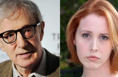 Woody Allen y su hija adoptiva Dylan Farrow.