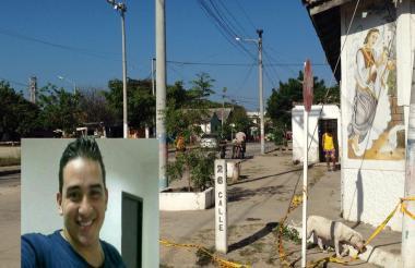 Brian Arturo Jamboos González, el agente de la Sijín asesinado, fue baleado en este punto del barrio Rebolo.