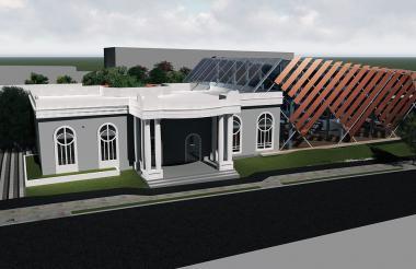 Así quedará la Casa Catinchi, ícono patrimonial contiguo a la Plaza de la Paz.