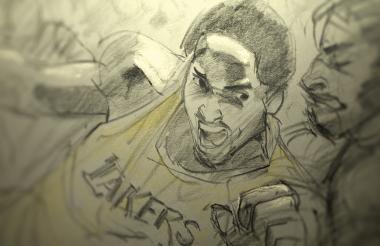 Imagen del corto animado que le significó una nominación al Óscar a Kobe Bryant.