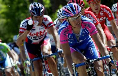 El ciclista lituano Raimondas Rumsas Jr.