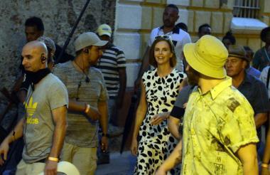 Charlize Theron durante el rodaje.