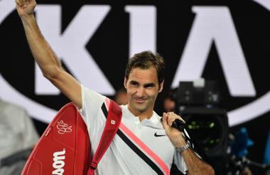Federer luego de su victoria ante Chung