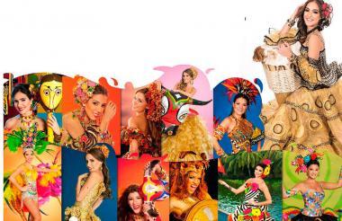Algunas de las exreinas del Carnaval participarán en el conversatorio en el Hotel El Prado.