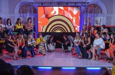 Ex reinas del Carnaval de Barranquilla de diferentes épocas participaron ayer del panel 'Conversando con la tradición', en el Hotel El Prado.