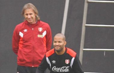 Gareca y Rodríguez.