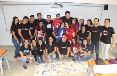 Estudiantes de intercambio en Barranquilla.