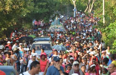 Las celebraciones en homenaje a la Virgen de Candelaria se iniciaron con la inauguración del Festival del Frito.