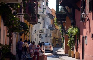Aspecto de una calle del Centro Histórico de la ciudad de Cartagena.
