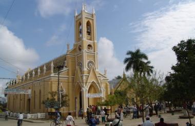 Imagen de referencia de la iglesia de Majagual, Sucre.