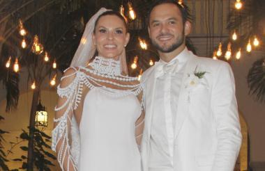 Paula Andrea y su esposo Luis Miguel Zabaleta.