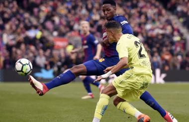 Yerry Mina jugó los 90 minutos en el empate entre el Barcelona y el Getafe.