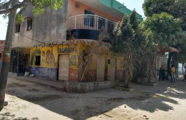 Billar donde fue asesinado un hombre en el barrio Las Colonias de Soledad. Con este hecho de sangre suman 12 los homicidios en el área Metropolitana.