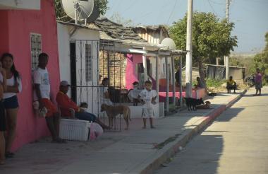 Vía del barrio El Bosque, donde han ocurrido tres homicidios durante la época de Carnaval.