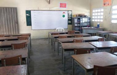 Los salones de clases quedaron vacíos en las escuelas de El Copey ante las amenazas a los estudiantes.