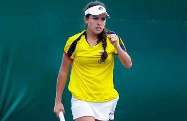 La tenista cucuteña María Camila Osorio.
