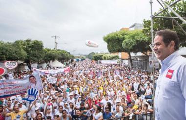 Germán Vargas en Cúcuta este viernes.
