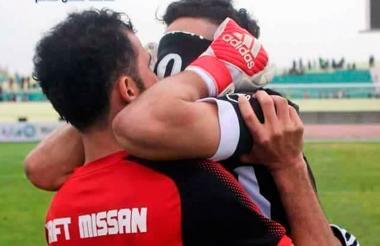 El arquero Alaa Ahmad rompió en llanto tras el pitazo final.