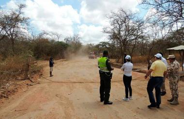 La mandataria encargada estuvo en Paraguachón.