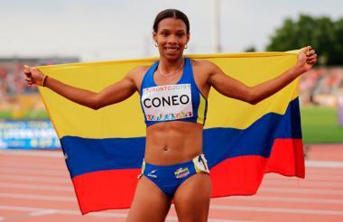 La atleta colombiana Muriel Coneo.
