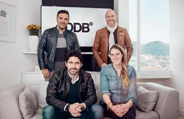 De izquierda a derecha: Leo Macías, director creativo, Borja de la Plaza , CEO de la empresa, Jorge Becerra, vicepresidente de planeación y estrategia y Joanna Safi, vicepresidente digital de la compañía.