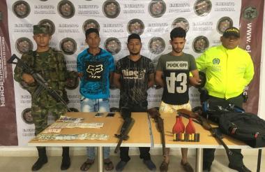 Los presuntos delincuentes fueron capturados por las autoridades.