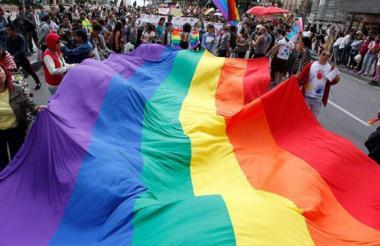 Bandera alusiva a la comunidad LGBTI