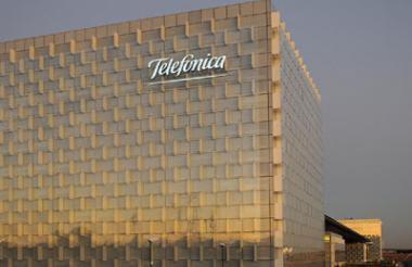 Edificio de Telefónica en España.