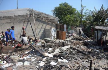 Las casas quedaron reducidas a escombros.