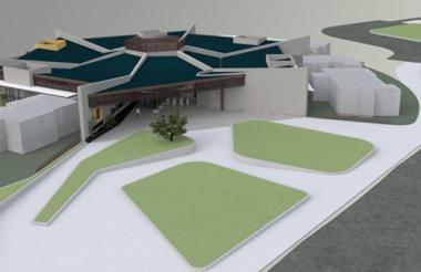 'Render' de la 'Loma Galería', que se construirá de cara al río Magdalena.