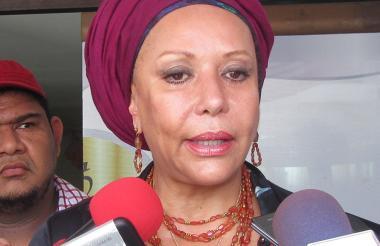 La candidata por el Poder Ciudadano, Piedad Córdoba.