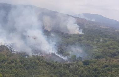 Aspectos de la conflagración en Dibulla.