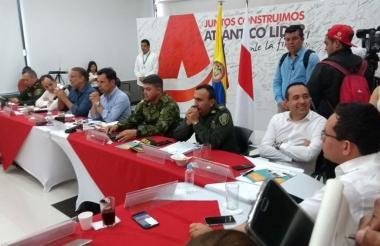 Aspecto del Quinto Comité Departamental de Seguimiento Electoral.